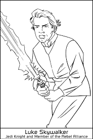 Small Picture Coloring Luke Skywalker jedi knight picture