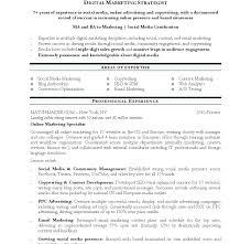Sample Social Media Resume resume Social Media Manager Resume 100