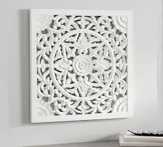 chelsea carved wood medallion panel
