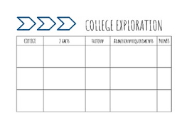 College Worksheet College And Career Exploration Worksheet Naviance Compatible