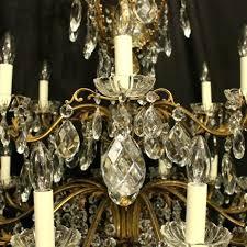 italian antique chandelier baroque gilded bronze and crystal eighteen light antique chandelier for italian antique italian antique chandelier