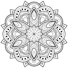 Easy Free Mandala Coloring Pages Free Coloring Mandalas Mandala Easy