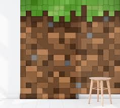 Kinderkamer Behang Minecraft Aarde 2 Dielconl