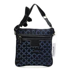 Coach Legacy Swingpack In Signature Medium Navy Crossbody Bags A