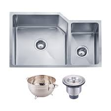 Dax Handmade 7030 Double Bowl Undermount Kitchen Sink 16 Gauge
