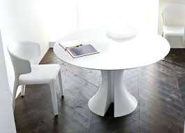 modern white round dining table extendable