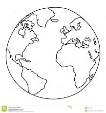 Disegno Del Mondo Illustrazione Vettoriale Illustrazione Di Mano