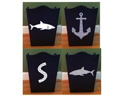 Shark Bedroom Decor Shark Room Decor Shark Waste Basket Personalized Shark Anchor