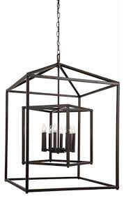 8 light cage chandelier oil rubbed bronze