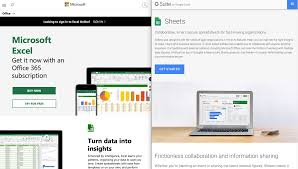 Ms Suite Comparing Office 365 And G Suite Microsoft Excel Vs