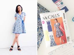 Mc Calls Patterns Simple Part 48 final McCalls Patterns M48 SewAlong Wrap Dress is