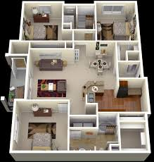 Great 50 Four 4 Bedroom Apartmenthouse Plans Bedroom Apartment With 3 Bedroom  Luxury Apartments Ideas
