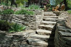 image of stacked stone retaining wall