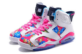 jordan shoes 11 pink. womens air jordan 6 gs \u201cfloral\u201d custom white/pink for sale in girls size [women nike 6_27] - $86.00 : cheap shoes | 11 pink
