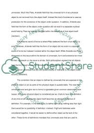 aristotle and plato on realism essay example topics and well   text preview