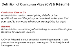What Does Cv Resume Stand For Curriculum Vitae Definition What Does