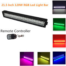 Color Changing Led Light Bar For Truck Night Break Light Straight 21 5 Inch 120w Color Changing Led