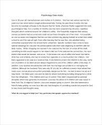 Psychological Examiner Cover Letter Interesting Psychology Case Study Template