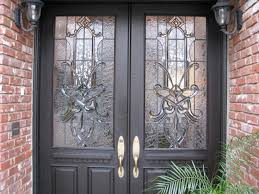 front door stained glass inserts stylish craftsman traditional front door with leaded glass