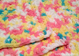 Bernat Baby Blanket Yarn Patterns Gorgeous MrsBrits Sweet And Chunky Baby Afghan Crochet Pattern