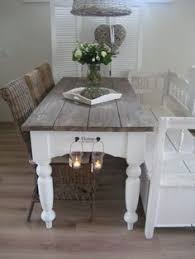 shabby wooden bench table benchdining room