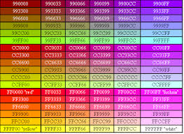 Html Color Code Chart Making The Web Beautiful Color