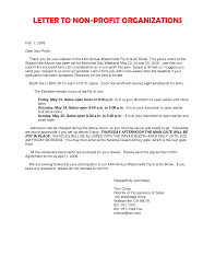Cover Letter For Non Profit Organization Gallery - Cover Letter Ideas