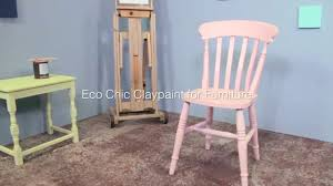 eco chic furniture. Painting A Chair With Earthborn Eco Chic: Claypaint For Furniture - YouTube Chic