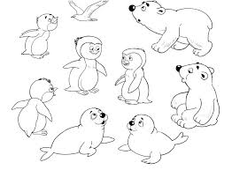 Arctic Coloring Pages Arctic Animal Coloring Pages Free Printable