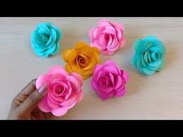 Rose Paper Flower Making How To Make Realistic Easy Paper Roses Paper Flower Diy
