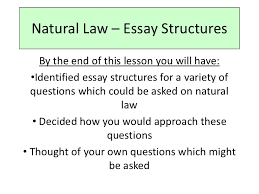 natural law essay structures