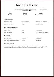 Acting Resume Sample Elegant New Actors Resume Awesome Examples