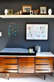 i like the high shelf above the dresser changing table beauty without sacrificing functional