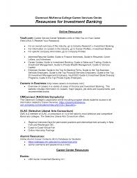Resume Samples Investment Banking Cover Letter Template Sample