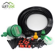 Timer 5m New Set Timer 5m 15m 25m Diy Drip Irrigation System Automatic Plant Self Watering Garden Hose Micro Drip Garden Watering System
