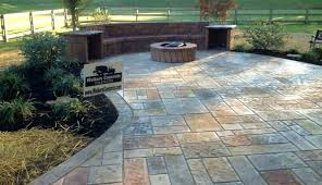 stamped concrete patio with square fire pit. Stamped Concrete Patio With Fire Pit Cost. Contemporary Cost Of  Image Square T