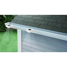 Solar Fence Lights Home Depot Hampton Bay Solar Powered Integrated Led White Roof Gutter Light 4 Pack