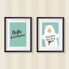 ... Free printable DIY nursery wall art