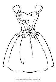Vestiti Da Sposa Da Colorare E Stampare Migliore Disegno