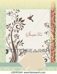 Elegant Invitation Cards Vintage Invitation Card With Ornate Elegant Retro Abstract