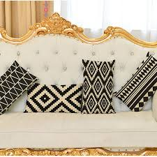black and white lumbar pillow. Exellent Pillow Decorative Throw Pillow Cushion Cover Black And White Geometric Lumbar  Rectangle Home Decor And I