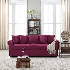 traditional fabric sofas. Unique Traditional Classic And Traditional Ultra Comfortable Linen Fabric Sofa  Living Room  Couch Purple On Sofas E
