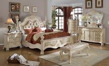 white traditional bedroom furniture. Antique White Finish Traditional 4pc Carved Queen Size Bedroom Home Furniture F