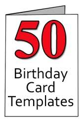 Printable 50th Birthday Cards Happy Holidays