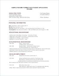 College Admission Resume Template New College Admissions Resume Template College Admission Resume Template