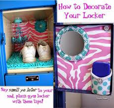 how to decorate a gym locker with lockerlookz diy locker decor