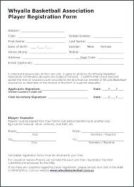Free Basketball Registration Form Template Fresh Team R Beautiful