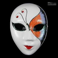 Plastic Masks To Decorate Butterfly White Paper Pulp Party Masks For Women Decorating Full 48