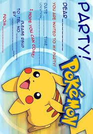12 Superb Pokemon Birthday Invitations Kittybabylovecom