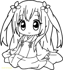 Cute Anime Girl Coloring Pages Lovely Cute Coloring Pages Cute